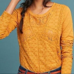Anthropologie Piana Eyelet top